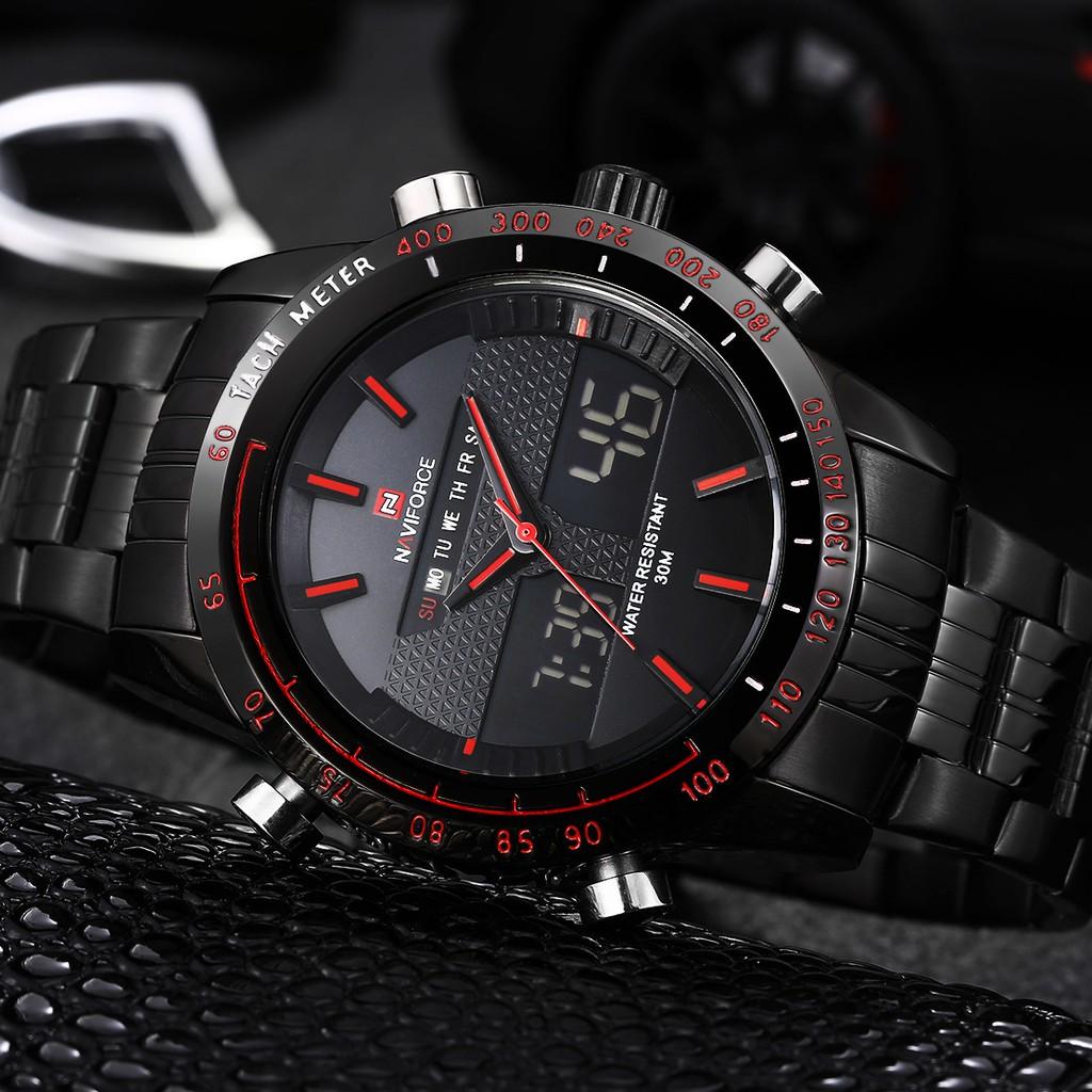Đồng hồ nam NAVIFORCE dây thép kiểu dáng thể thao, chống nước BH 12 tháng - NAVE6 FD
