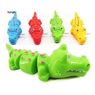 【HKM1】Cute Cartoon Crocodile Funny Wind Up Clockwork Educational Kids Baby Spring Toy