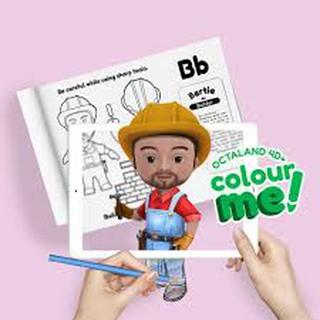 Đồ chơi 4D- Tô màu cho bé để nhập vai và sáng tạo với thẻ thực tế ảo đầy sinh động