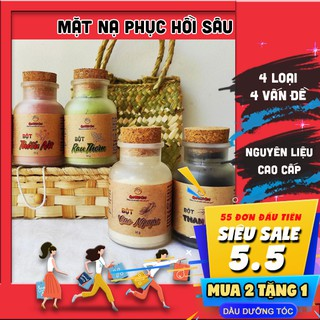 Mặt nạ (cao cấp) dưỡng da / mask dưỡng da sạch mụn dùng tại spa QUÊ MỘT CỤC 50g (handmade)
