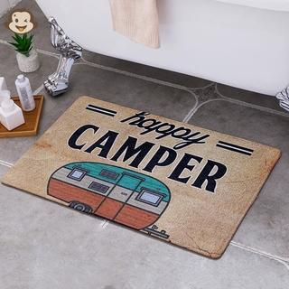 Happy Camping Door Mat Entrance Floor Rug Bathroom Pad Non Slip Carpet Home Decor