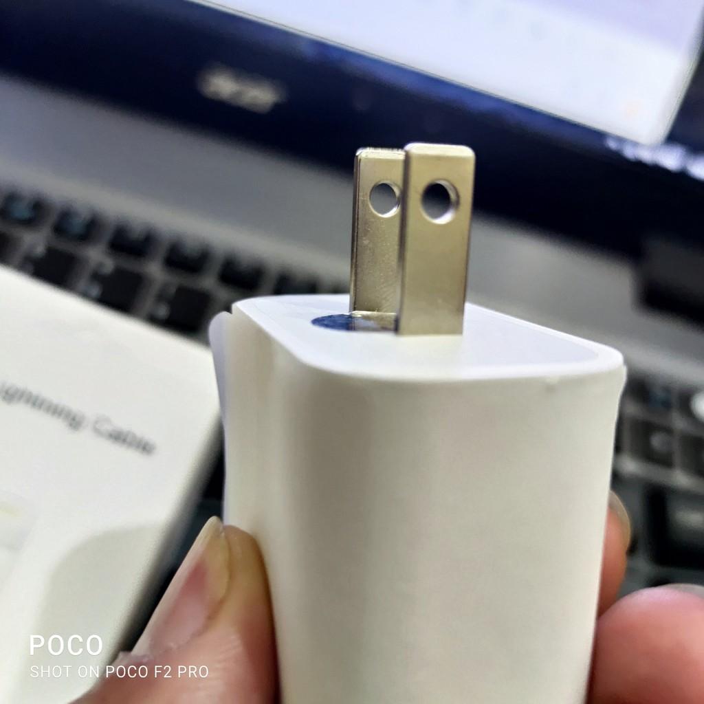 (Quà Tặng Sticker)Củ sạc nhanh 18w PD USB-C nhập khẩu Dây cáp USB-C to lightling cho iphone từ 8/8p/x/xs/xsmax/11/11pro