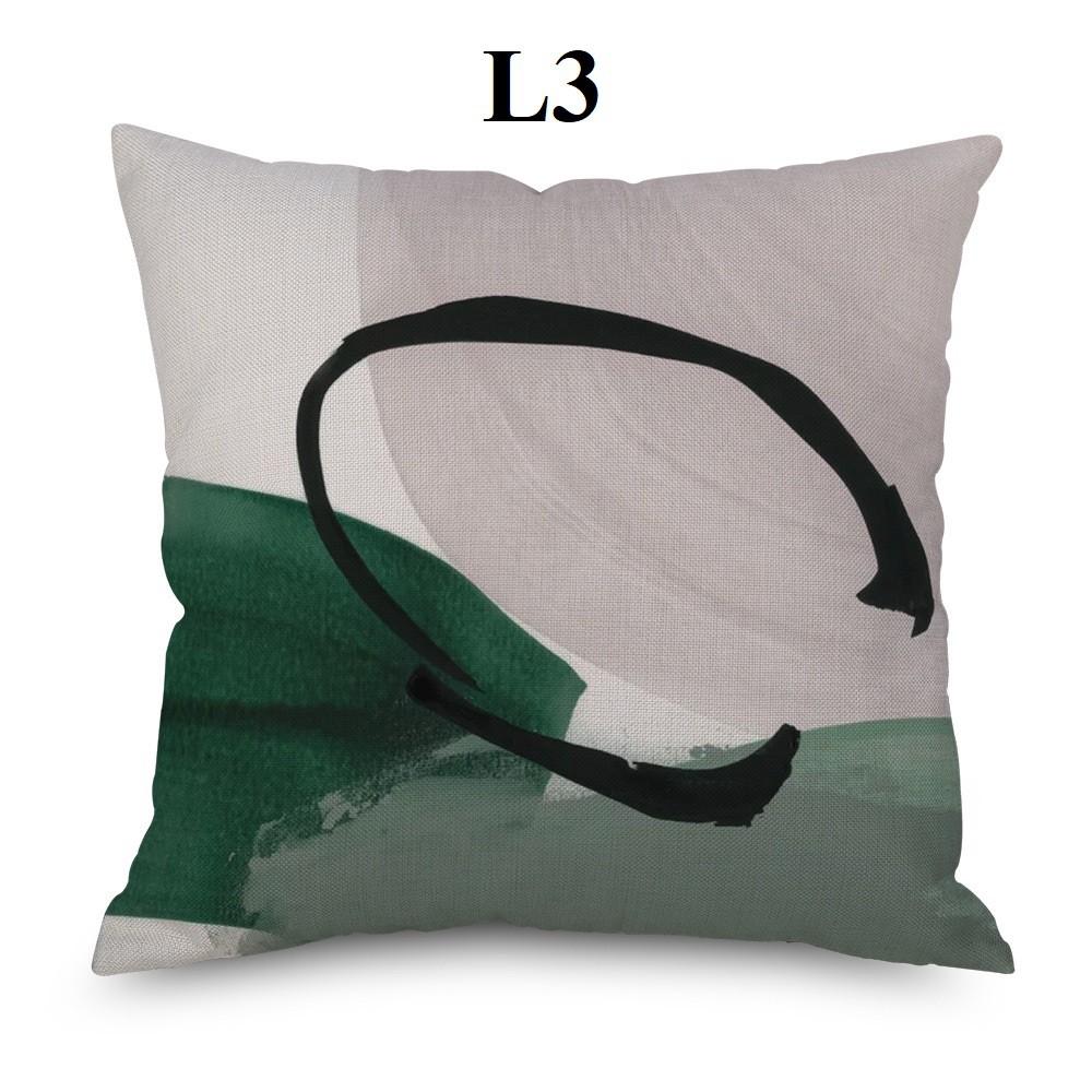 Gối tựa lưng, gối tựa sofa, gối tựa vuông 45x45 phong cách hội họa