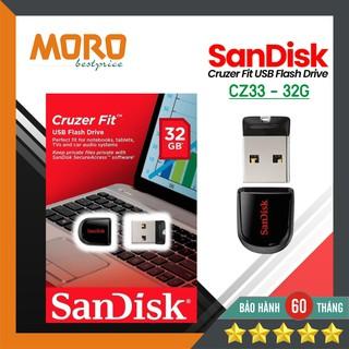 [USB mini siêu nhỏ] Sandisk Cruzer Fit CZ33 – USB 16GB / 32GB 2.0 mini siêu nhỏ – Bảo hành 5 năm