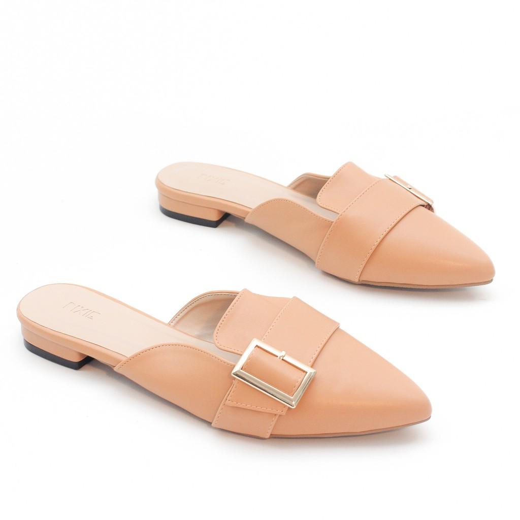 Giày Sục Bít Mũi Pixie P170 Màu Kem