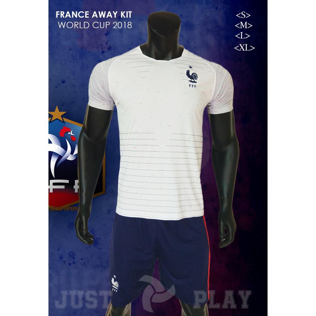 Quần áo đá banh đội tuyển Pháp trắng sân khách World Cup 2018