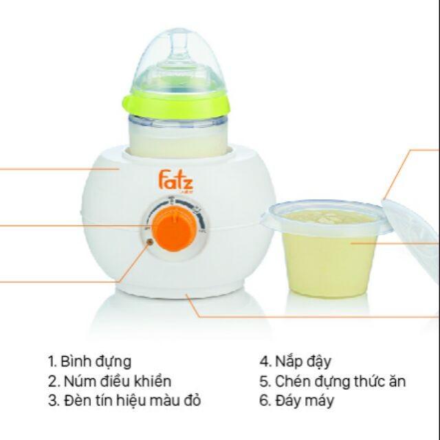 Máy hâm sữa bình cổ rộng Fatzbaby(bh 12 tháng)