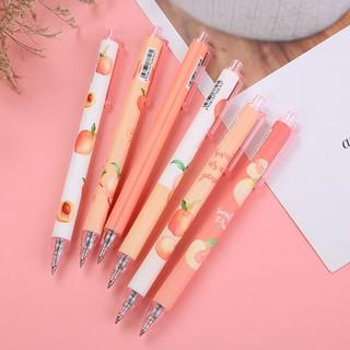 [Mã LIFE10K15 giảm 10K đơn 20K] Bút bi bấm hoạ tiết quả đào xinh xinh (5 mẫu)