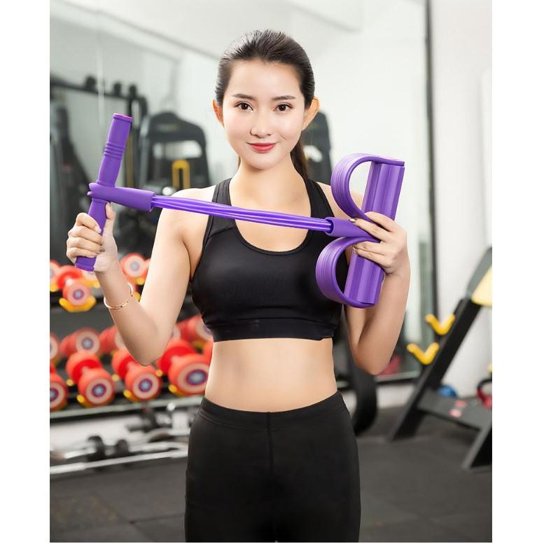 Dây Kéo Đàn Hồi 4 Ống Cao Su Tập Thể Dục, Tập Gym Tại Nhà Tập Toàn Thân  Nâng Cao Sức Khỏe | Shopee Việt Nam