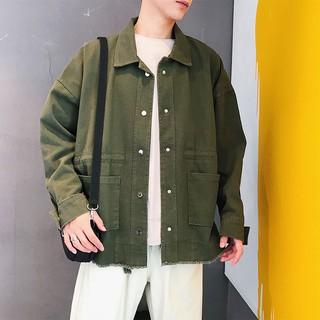 Áo Khoác Nam Vải Jean Thời Trang Hàn Quốc Năng Động