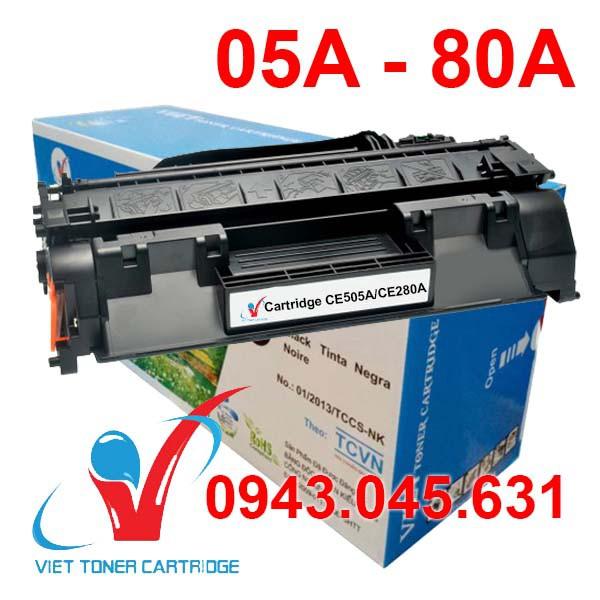 Hộp mực 80A/05A dùng cho máy in HP Pro 400 M401, M425, P2035, P2055 - Canon LBP 251DW, 252DW, MF416DW - Cartridge CE505A