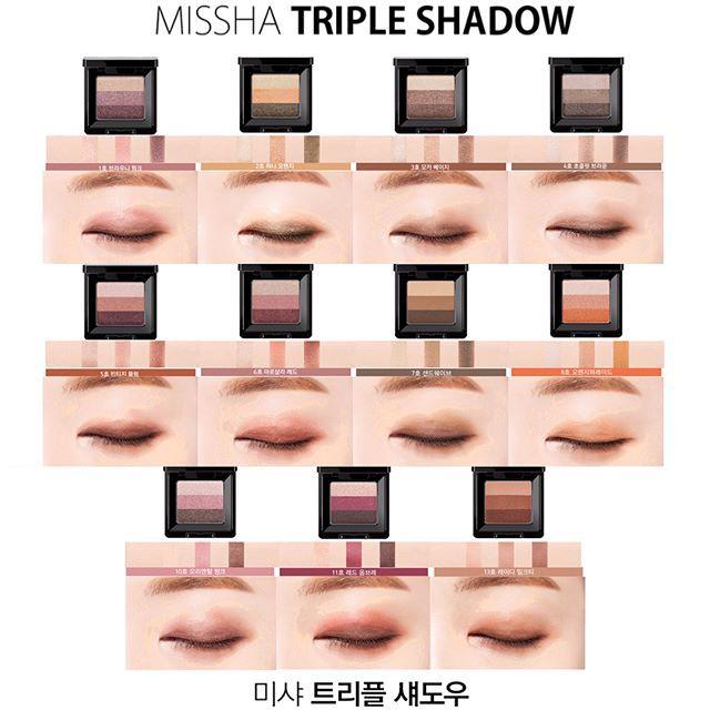 Phấn Mắt Missha Triple Shadow