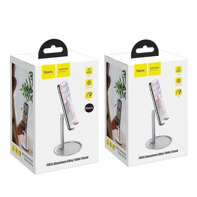 Giá đỡ điện thoại ipad hợp kim nhôm Hoco PH15 chính hãng