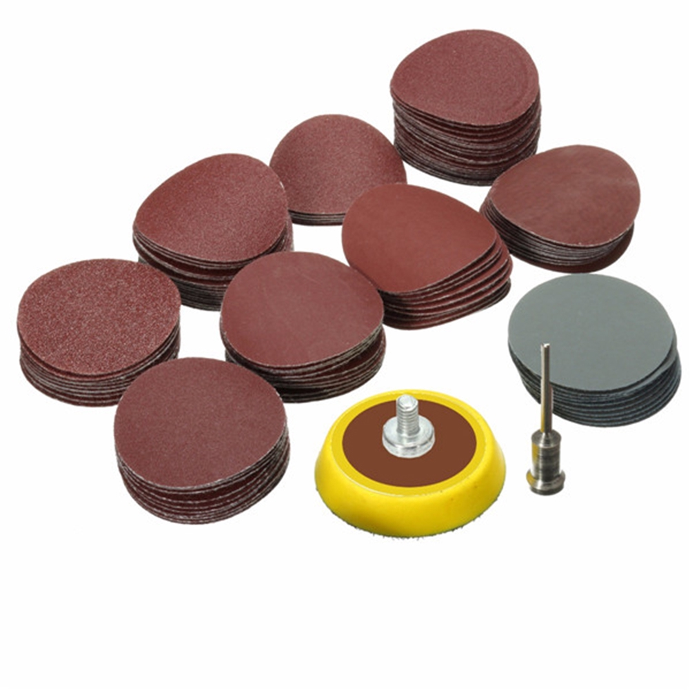 Rotary Tool Mini Cleaning Polishing 1/8 Flexible Power 1 Inch Sandpaper+Grinding Disc Set
