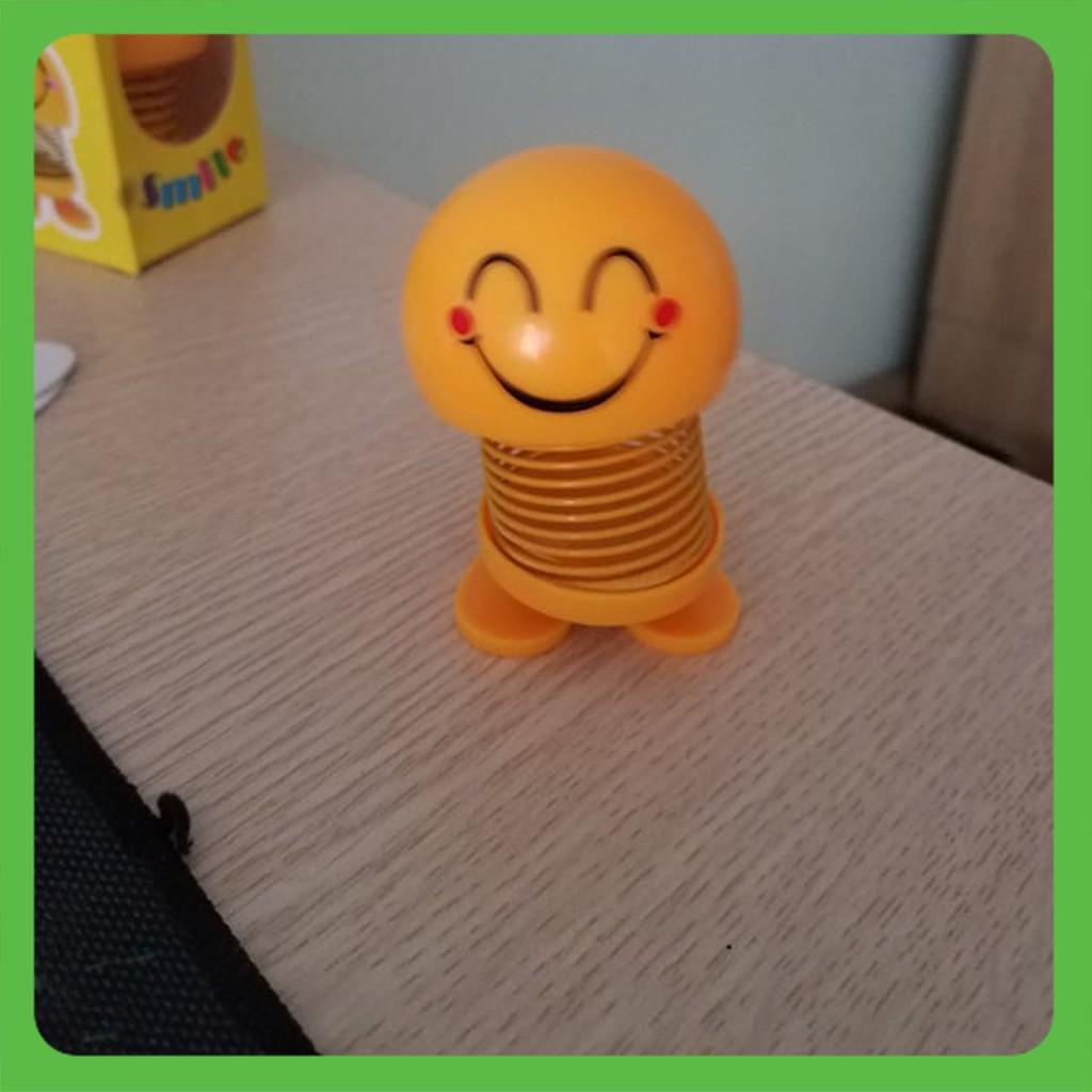 [ GIÁ SỈ ] Combo 6 Thú Nhún Emoji con lắc lò xo màu vàng siêu Cute