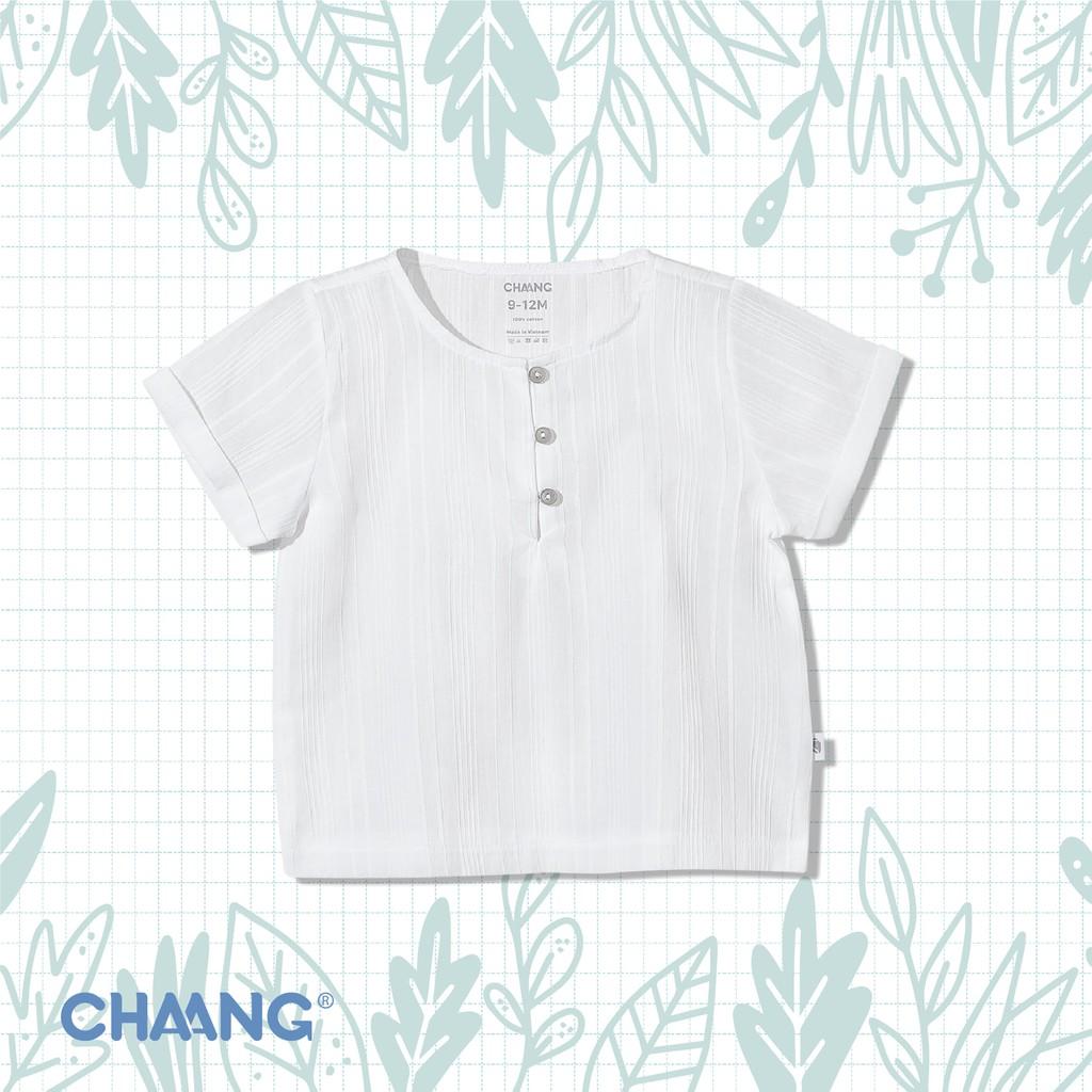 Áo cộc bổ trụ CHAANG summer trắng