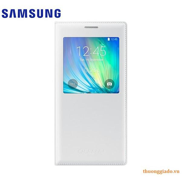Bao da Samsung Galaxy A7 (2015) S View Flip Cover màu trắng chính hãng