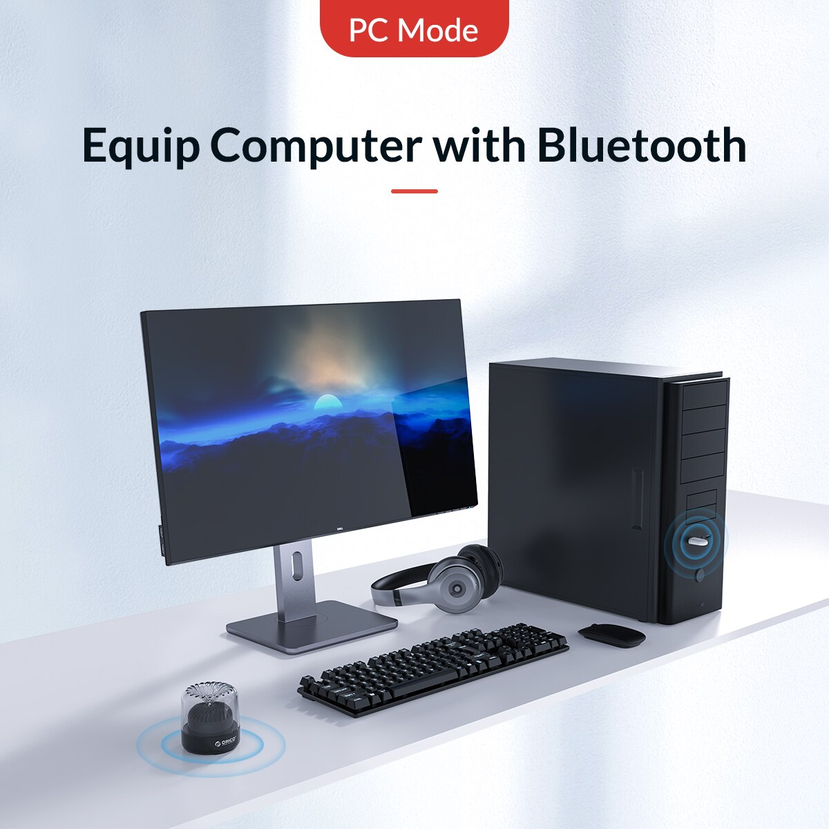 [ORICO] Bộ chuyển đổi âm thanh USB Bluetooth 5.0 cho máy tính Nintendo Switch PS4 PC Máy tính xách tay Chế độ TV Hỗ trợ kết nối kép cho PC Hỗ trợ máy tính kết nối Bluetooth(BTA-SW01)