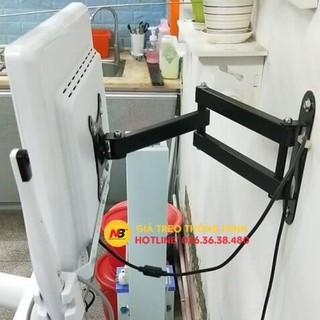 Giá treo màn hình máy tính CP102 14 - 17 - 19 - 23 - 24 - 27 - 32 inch - Giá treo tivi gắn tường xoay 180 độ