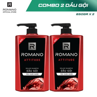 Hình ảnh [Mã COSWIP -8% đơn 250K] Combo 2 Dầu gội Romano hương nước hoa 650g x 2-2