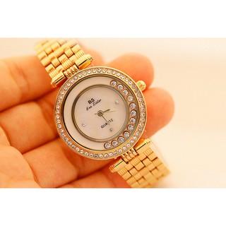 [CÓ VIDEO - ẢNH THẬT] Đồng hồ nữ Bee Sister FA1552 dây thép cao cấp mặt tròn đính đá