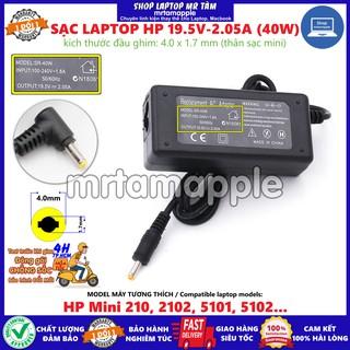 (ADAPTER) SẠC LAPTOP HP 19.5V-2.05A (40W) (Mini) kích thước đầu ghim 4.0 x 1.7 mm thumbnail