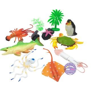 Bộ đồ chơi mô hình các loài sinh vật biển đại THÀNH LỘC bằng nhựa