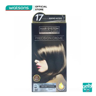 Thuốc Nhuộm Tóc Hair System By Watsons Professional Salon Precision 60ml+60ml+10ml.#03 Medium Brown