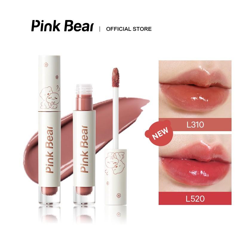 Son Kem Bóng Pink Bear Glass Shine Gloss Liquid Hydrating Long-lasting 2.5g    Shopee Việt Nam