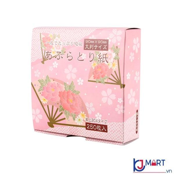 Set 250 tờ giấy thấm dầu da mặt Nhật Bản