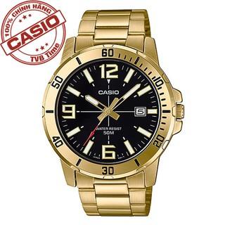 Đồng hồ nam dây kim loại Casio Standard chính hãng Anh Khuê MTP-VD01G-1BVUDF (45mm)