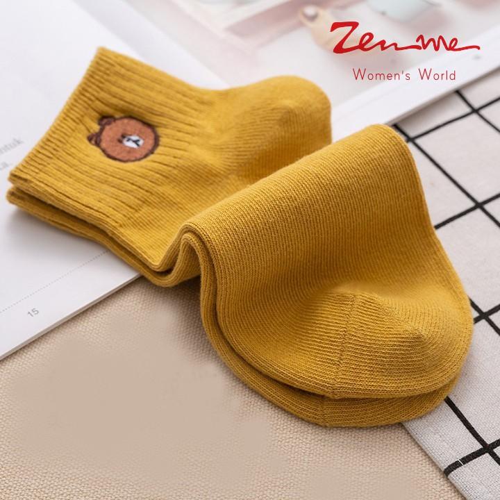 Zen Me Combo 02 Đôi Tất Chân Nữ Họa Tiết Con Gấu Đẹp - Màu Sắc Trẻ Trung Ngẫu Nhiên thumbnail