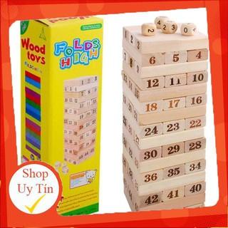 Đồ chơi rút gỗ số + sắc màu 48 thanh (LOẠI TO ĐẸP)