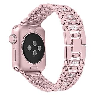 Dây Đeo Inox Đính Kim Cương Giả Cho Đồng Hồ Thông Minh Apple Watch 6 5 4 38mm 42mm 40mm 44mm Iwatch Series 6 5 4 3