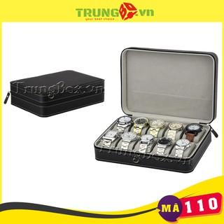 Hộp Đựng Đồng Hồ Du Lịch 10 Ngăn Bằng Da - Mã 110 SAIKE thumbnail