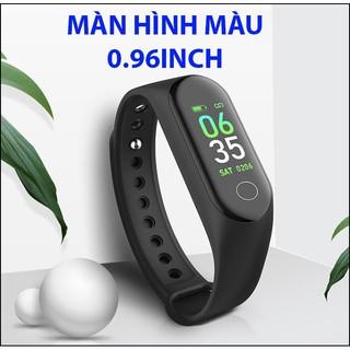 Vòng đeo tay thông minh M3 đo nhịp tim, kết nối bluetooth, tập thể thao, theo dõi sức khỏe, vận động