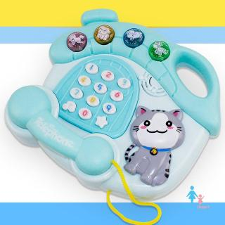 [NEW PRODUCTS]Children Toy Lightweight Mini Playing Funny Music Telephone With Light Toy
