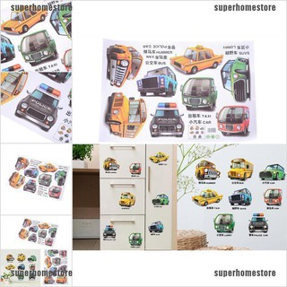 [COD]Cartoon Cars Trucks Bus Wall Sticker Kids Boys Bedroom Poster Home Decor