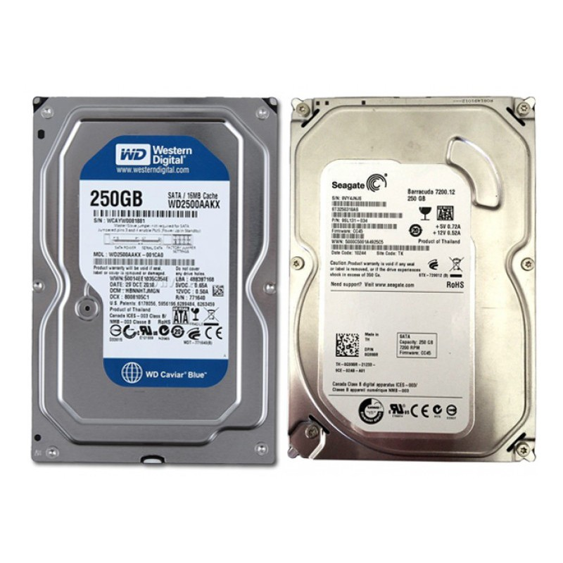 HDD 250G Western Digital, Seagate Giá chỉ 170.000₫