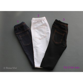 Quần legging giả jean có túi cho trẻ em size 1-10