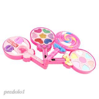 Lollipop Shape Makeup Kit for Girls, Washable Palette Cosmetics Beauty Set