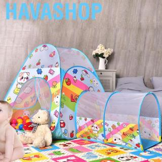 Havashop Play Tent Kids Tents Children Baby Ball Pool House Toddler with Crawl Tunnel Indoor