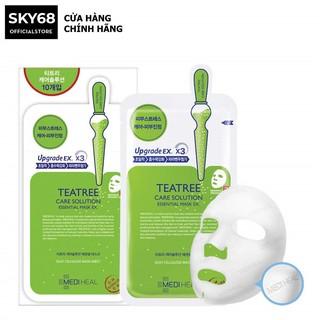 Hộp 10 Mặt nạ chứa tinh chất trà xanh ngăn ngừa mụn Mediheal Teatree Care Solution Essential Mask EX 24ml x 10 thumbnail