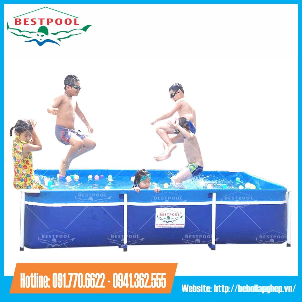{SALE SẬP SÀN}Bể bơi khung kim loại lắp ghép KT 1.6m x 2.8m x 0.6m