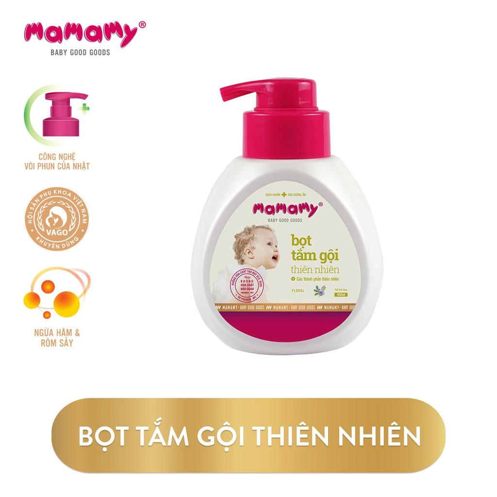 Bọt Tắm Gội 2 In 1 Thiên Nhiên Siêu Kháng Khuẩn An Toàn Cho Trẻ Mamamy (400ml)