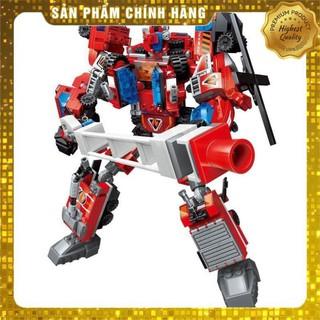 Đồ chơi trẻ em – Lego xếp hình siêu nhân robot từ khủng long đỏ