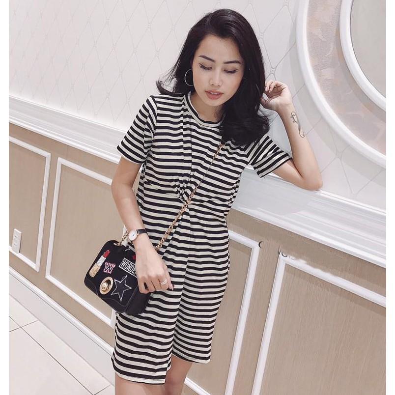 Áo Thun Váy Đầm Dáng Suông Form Rộng Dài ĐẦM 0078 B