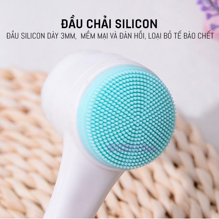 Cọ massage rửa mặt KOREA 2 đầu 3D gai silicon- sỉ