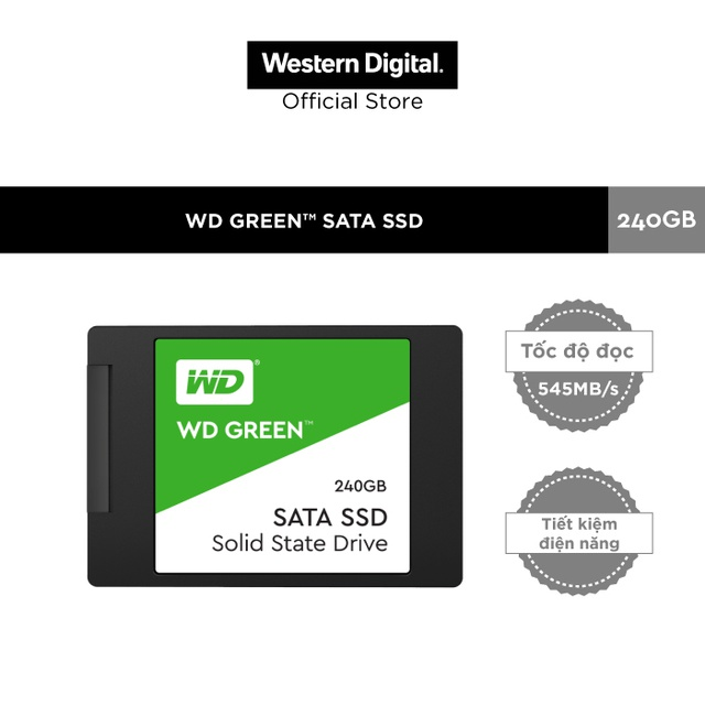 Ổ Cứng SSD WD Green 240GB 3D NAND-WDS240G2G0A
