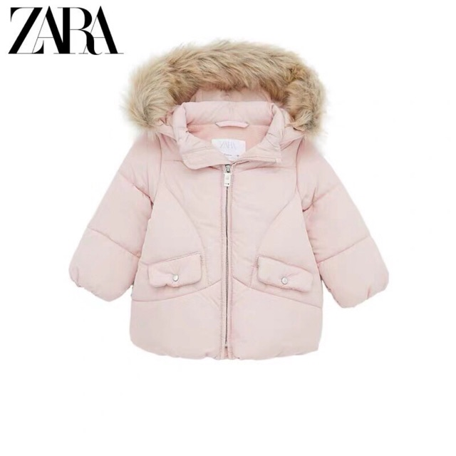 Áo khoác Zara mũ lông